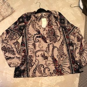 Lucky brand BoHo blouse never worn!